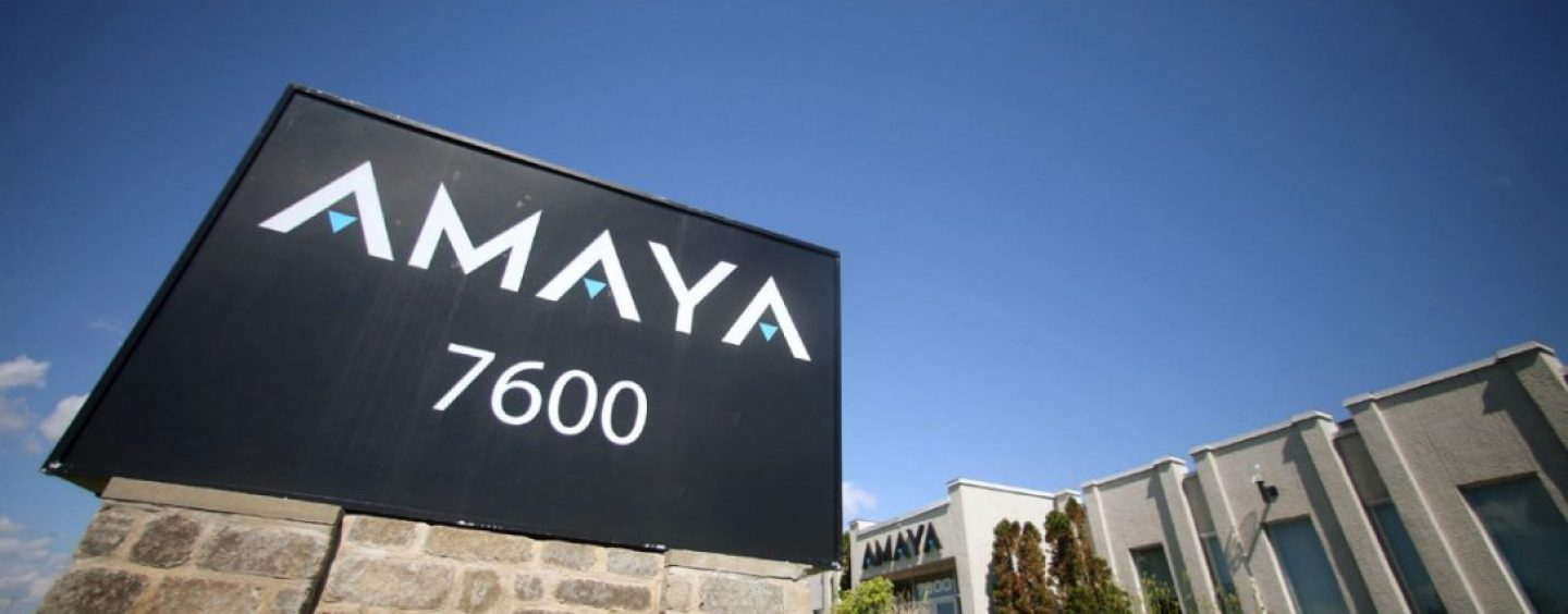 Amaya company was fined for betting outside of New Jersey