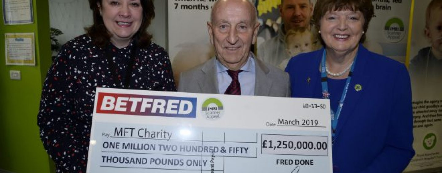 betfreds donates cheltenham profits to charity