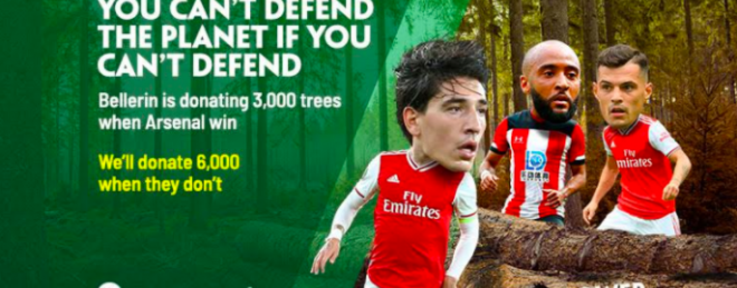 paddy power insures hectors arsenal tree pledge